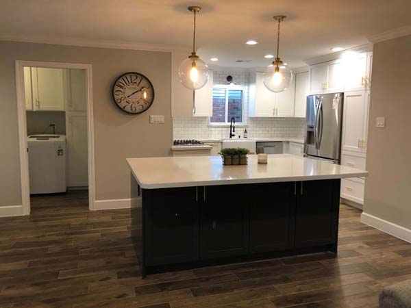 Bayou Bridge Home Remodel Large Kitchen Island