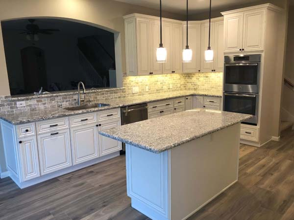Meadow Lakes Home Remodel Kitchen Island