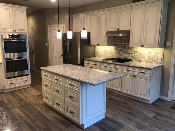 Meadow Lakes Home Remodel Kitchen Backsplash