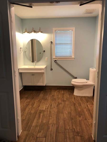 Redstart Home Remodel Open Bathroom