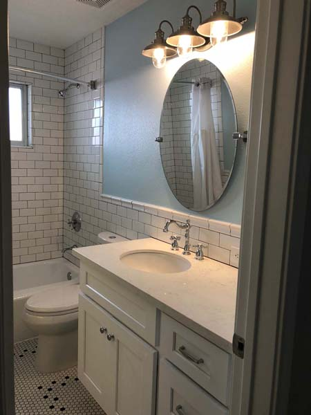 Redstart Home Remodel Bathroom Counters