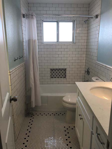 Redstart Home Remodel Small Bathroom
