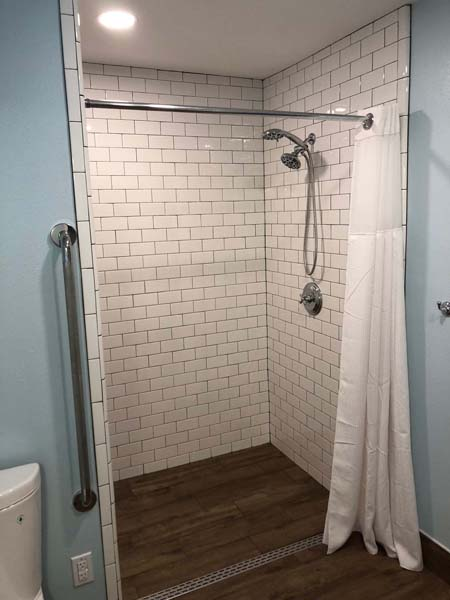 Redstart Home Remodel Open Shower